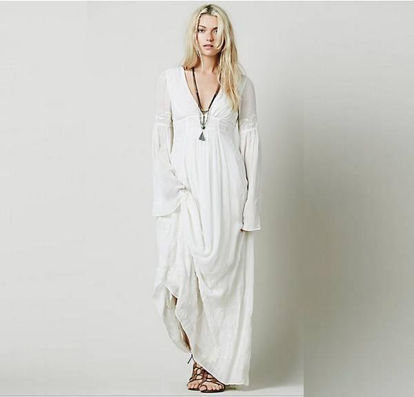 boho long sleeve bridesmaid dresses