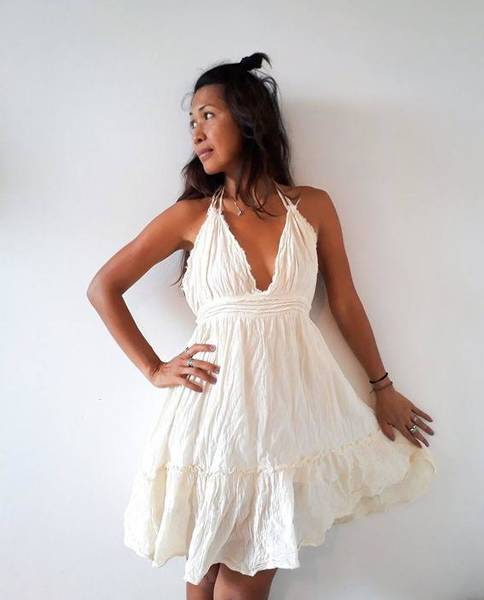 zara white boho dress